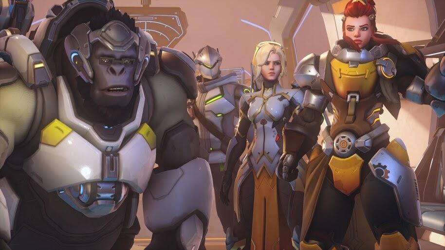 Overwatch 2, Winston, Mercy, Brigitte, Genji, 4K, #7.241