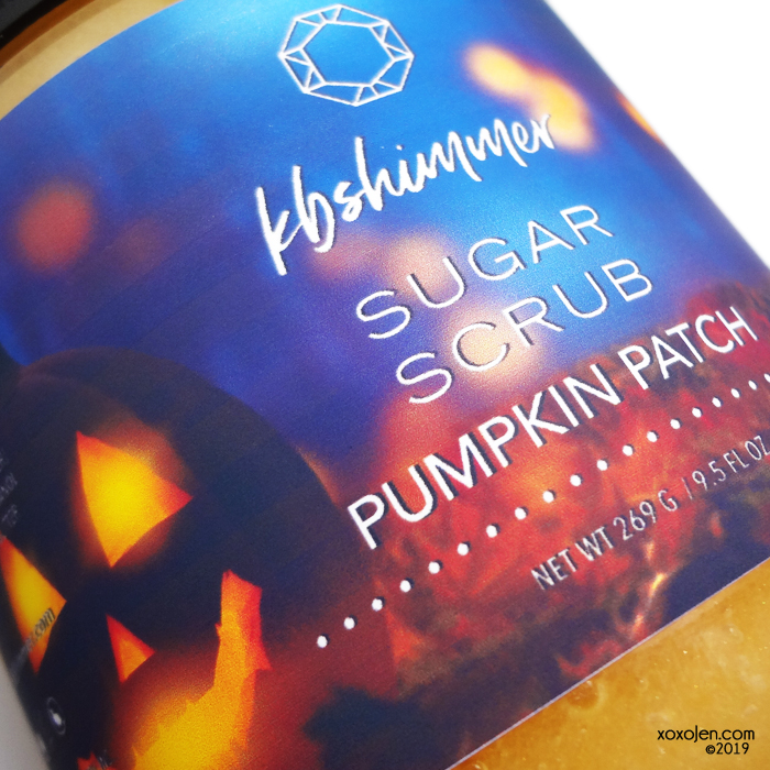 xoxoJen's swatch of KBShimmer Pumpkin Patch Sugar Scrub