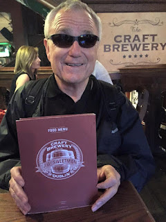 Bob with the J.W. Sweetman's menu