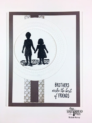Stamp Set: Brother in Christ   Custom Dies: Double Stitched Circles  Paper Collection: Nautical, Ephemera Essentials