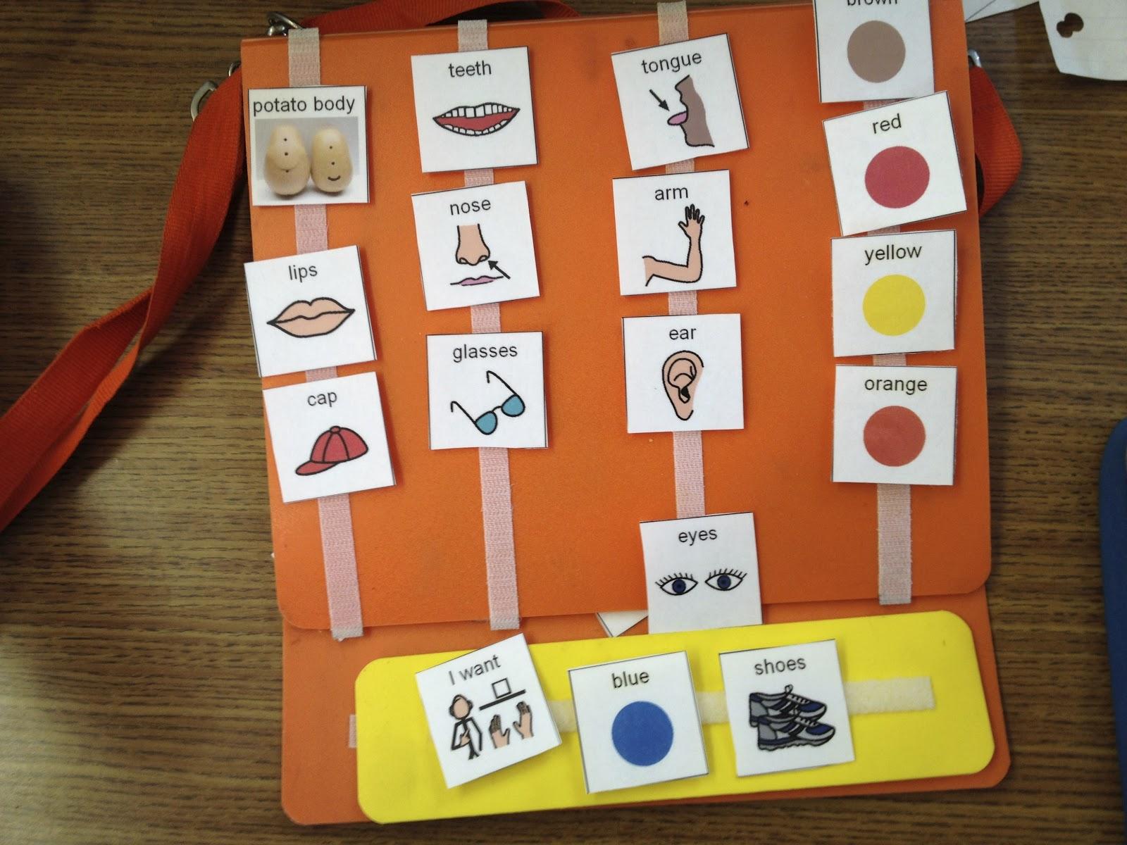 Autism Tank Mr Potato Head Language Activities