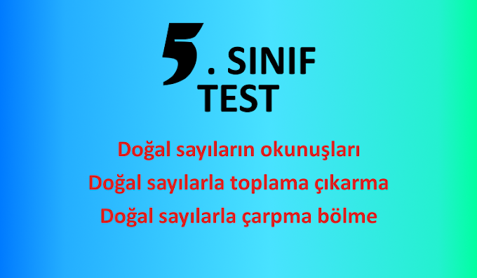 5. Sınıf Test