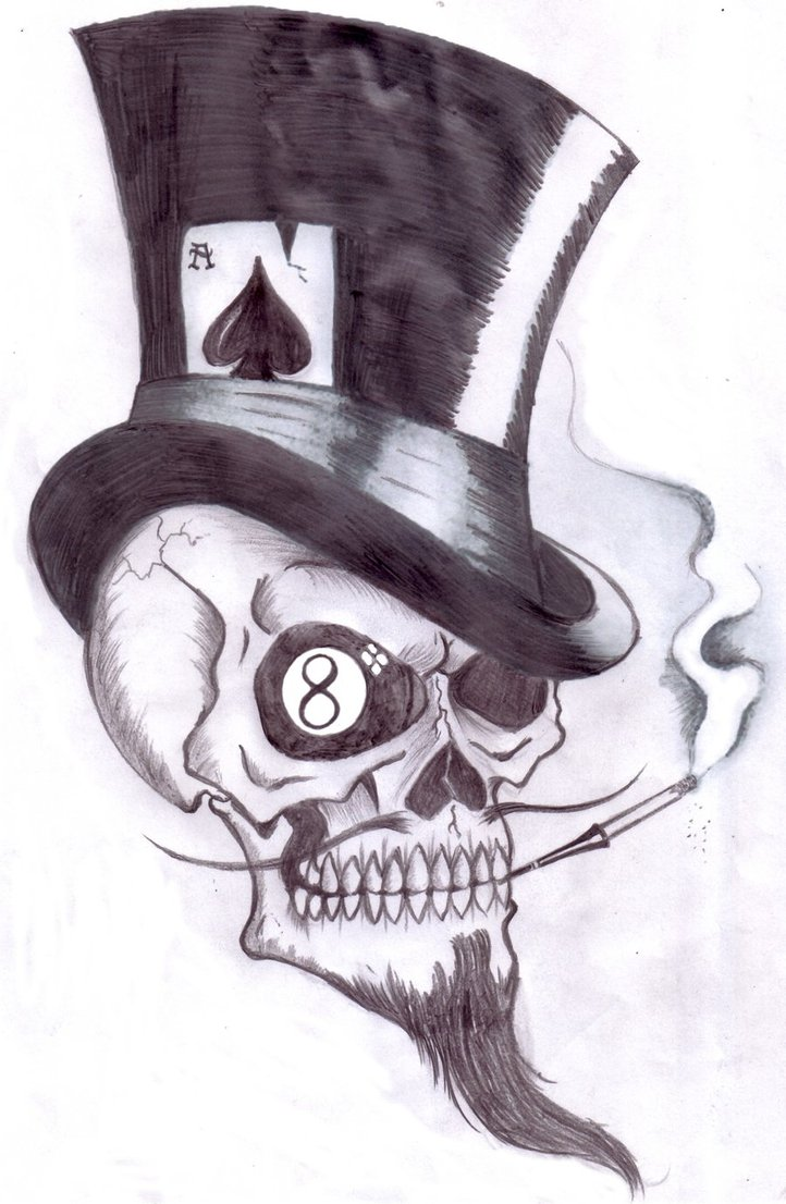 Follow Me Gambler Picture Hell Devil Skull Image