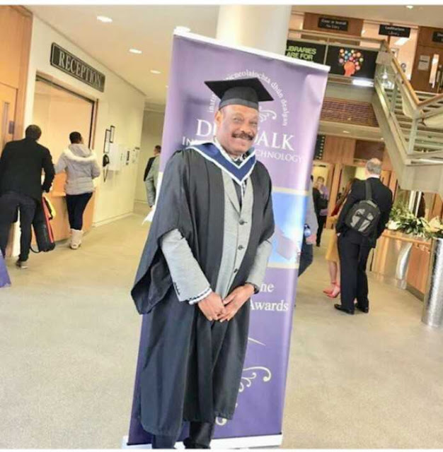 Don Jazzy's Father Graduates From Dundalk Institute Of Technology, Ireland