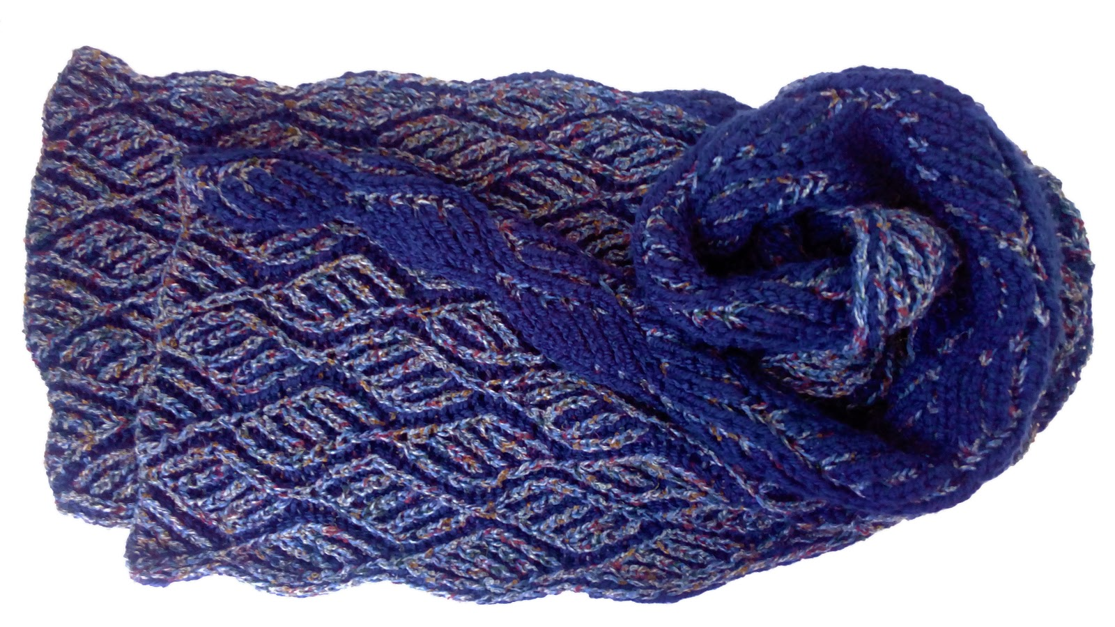 Diamonds Scarf - Brioche Knitting