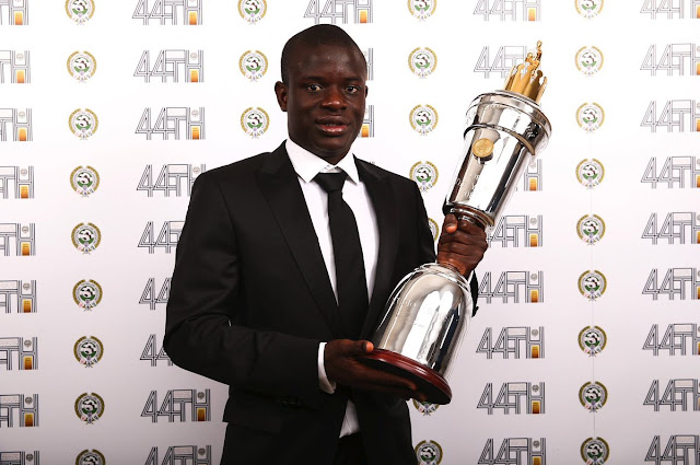 N'Golo Kante Named PFA Player Of The Year 2016/17