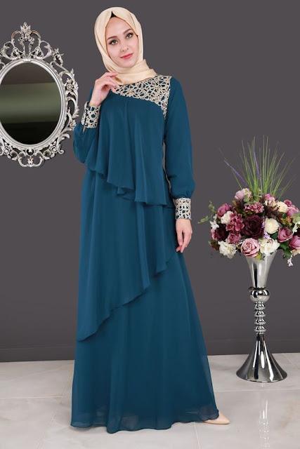 10 Model Baju Busana Muslim Wanita Terbaru 2018