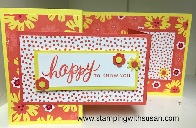 Stampin' Up!, Happiness Blooms, Bitty Blooms Punch Pack, Friendly Expressions, www.stampingwithsusan.com, Fun Fold