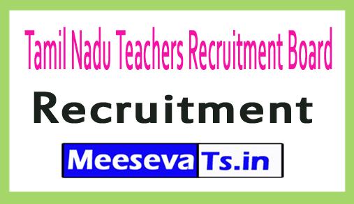 Tamil Nadu Teachers Recruitment Board  TN TRB Recruitment