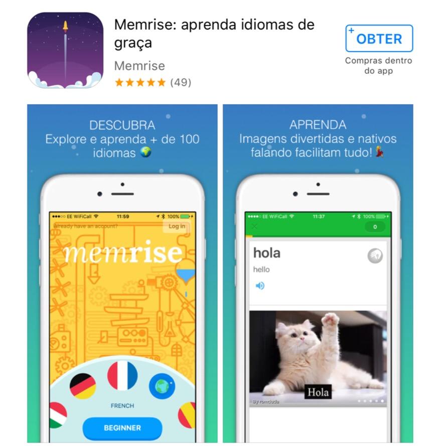 memrise - aplicativos, programas e sites gratuitos para aprender língua estrangeira sem pagar nada