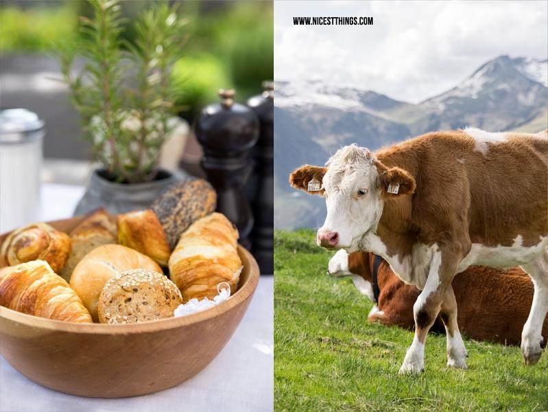Wiesergut eigene Kühe und selbstgebackenes Brot