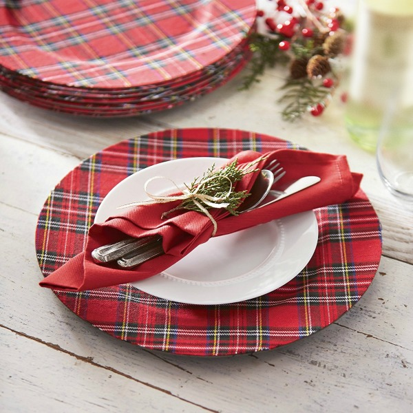 Christmas Plaid Plate Charger