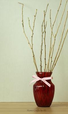 scrapbook paper valentine heart tree cricut decor display ribbon