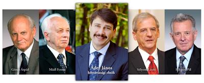 Göncz Árpád, Mádl Ferenc, Sólyom László, Schmitt Pál, Áder János, Magyarország-elnökválasztás