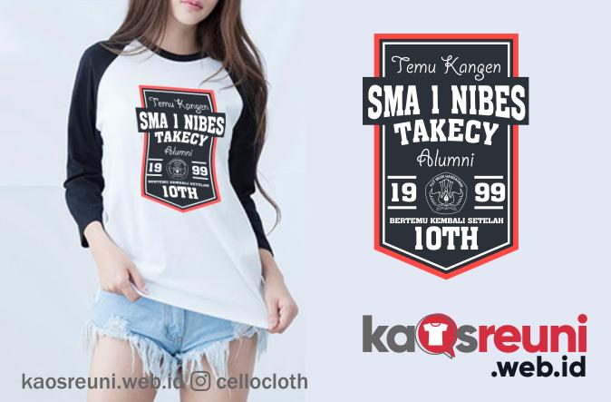 Desain Kaos Reuni SMA 1 Nibes Takecy Sample Design - Kaos Reuni