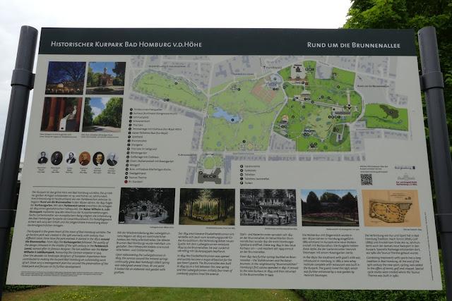 Kurpark in Bad Homburg - Wegweiser