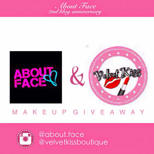 Blog Anniversary: Instagram Makeup Giveaway | About Face