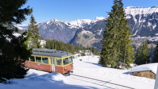 Grutschalp to Murren, Bernese Oberland, Swizerland