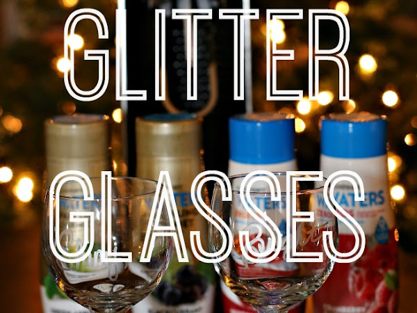 Easy Glitter Glasses and Sparkling Water with SodaStream Power