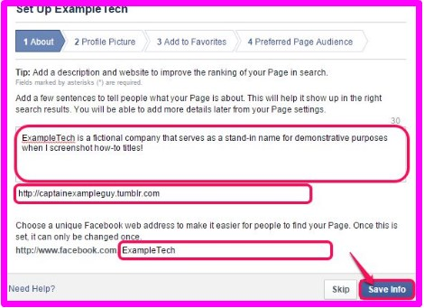 how to make a facebook business page official
