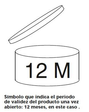 Símbolo indicando la duración de un cosmético: 12 meses en este caso