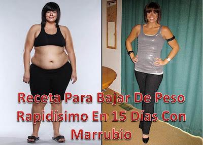 perdida de peso en 15 dias
