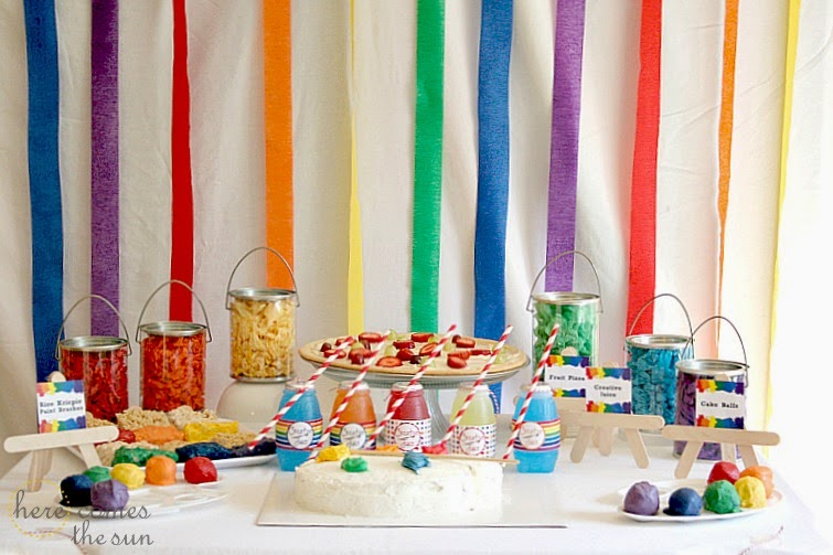 How To Host An Art Birthday Party Here Comes The Sun