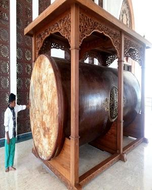 Pembuat Bedug raksasa terbesar ukuran 70 cm x 120 cm
