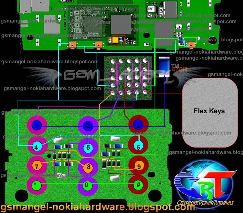 Nokia X3 Full keypad solution plus Filter IC jumper ways | Mobile