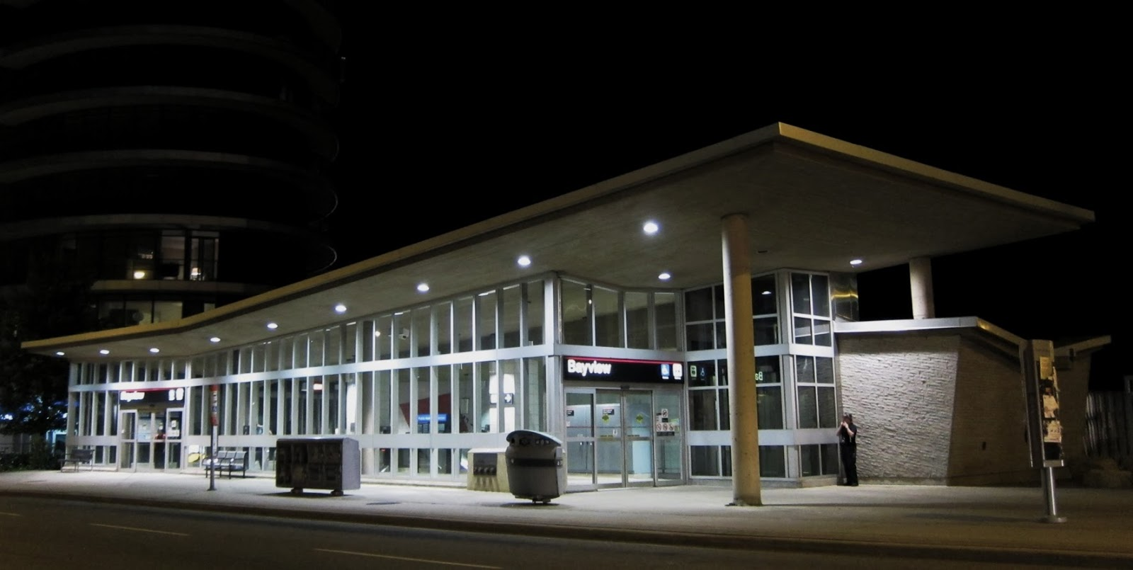 Photo: Bayview station entrance, NW corner of Bayview and Sheppard