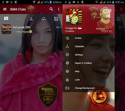 BBM Change Background With AS Roma v3.0.1.25 MOD APK Gratis