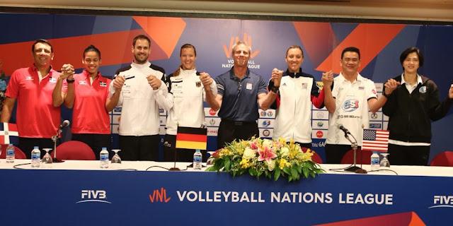 Cảm xúc của 4 đội tuyển Mỹ, Đức, Dominica và chủ nhà Thái Lan ở giải VNL 2018