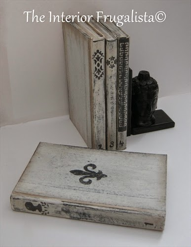 Painting hardcover books and giving them the appearance of wooden boxes