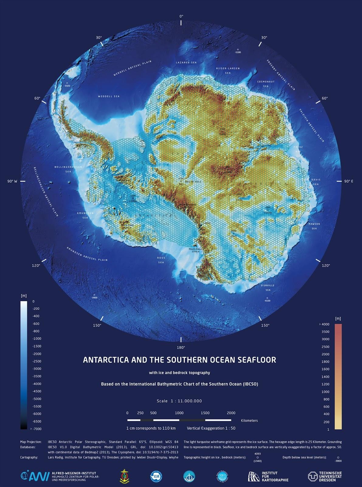 Antarktis   Der Antarktis kontinent