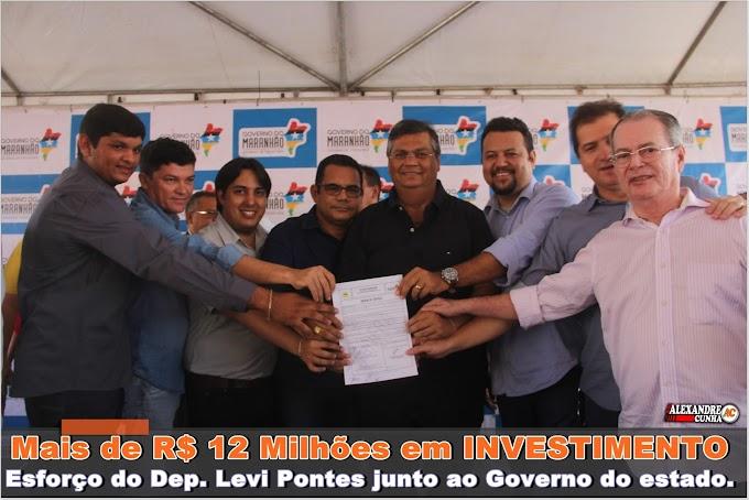 Deputado Levi Pontes junto com o governador Flávio Dino entregam obras em Santa Quitéria