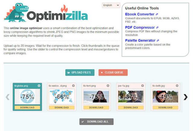 موقع optimizilla