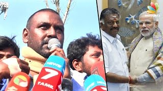 Raghava Lawrence's funny comments on Modi and O Panneerselvam | Jallikattu Protest Speech @ Marina