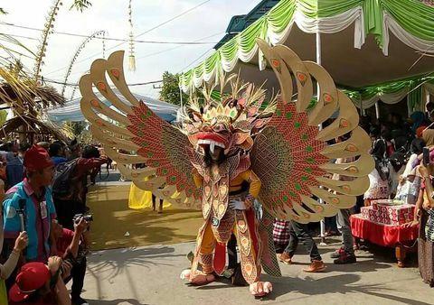 Barong tampil di Festival Bambu Gintangan 2017.