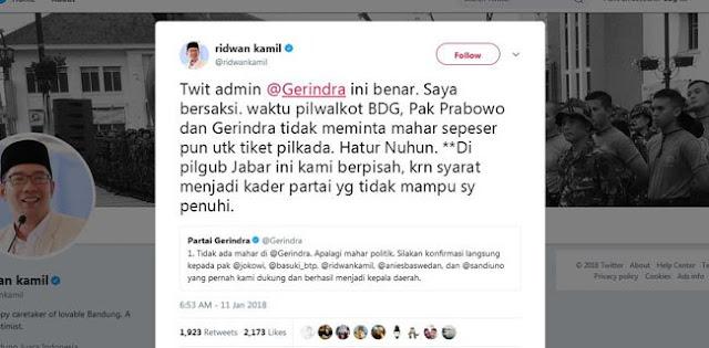 Blak-blakan, Ridwan Kamil Beberkan Alasan Berpisah Dari Prabowo