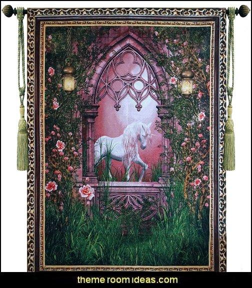 Unicorn Fine Tapestry Jacquard Woven Wall Hanging Art Decor
