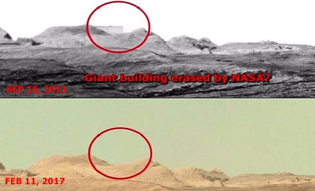 Exposed! Huge Building on Mars erased from Curiosity Image ...