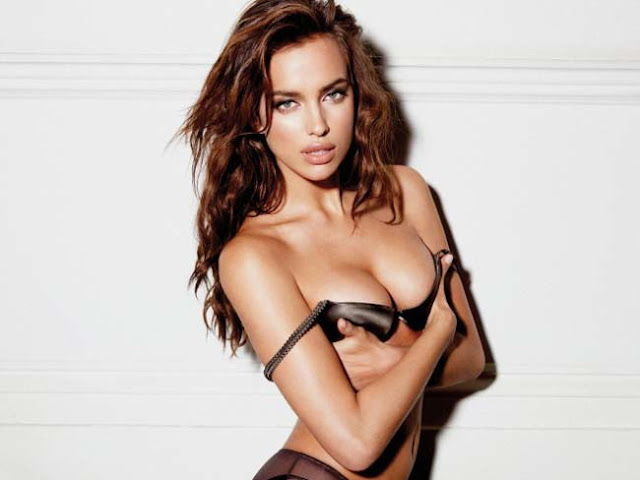 Hot girls Irina Shayk super sexy Bra model 2