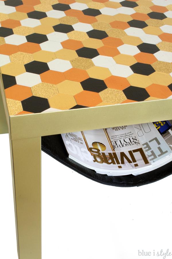 Ikea Lack Hack Hexagon Tabletop Magazine Sling