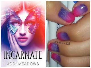 Literary Nails: Incarnate by Jodi Meadows