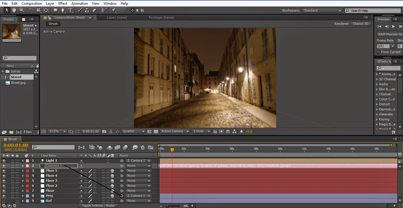 Easy Camera Mapping VFX with After Effects | Tutorial