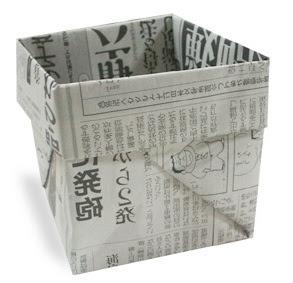 tempat sampah 1 cara membuat dari kertas