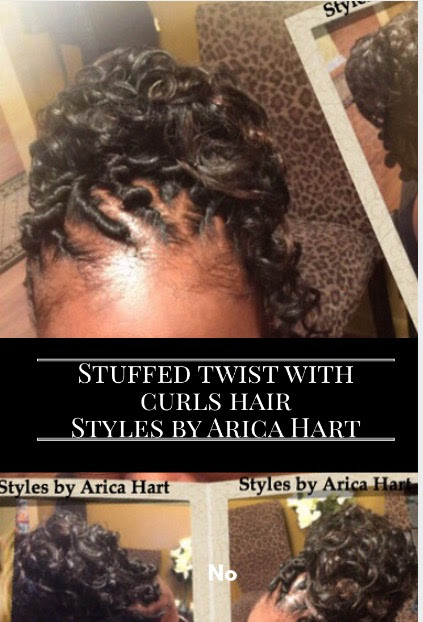 Stuffed twist with weave