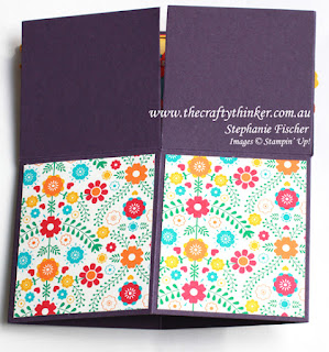 Stampn up, #thecraftythinker, Box Card, Botanical Builder, fun fold, Stampin Up Australia Demonstrator, Card in a Box