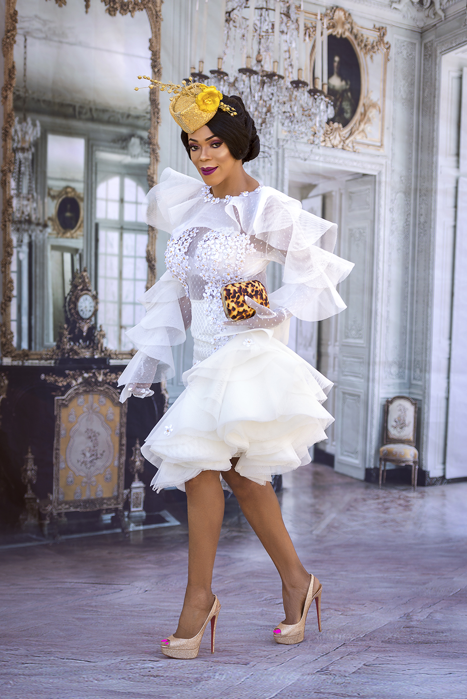 Little White Dress + Gold Fascinator, an Easter Look