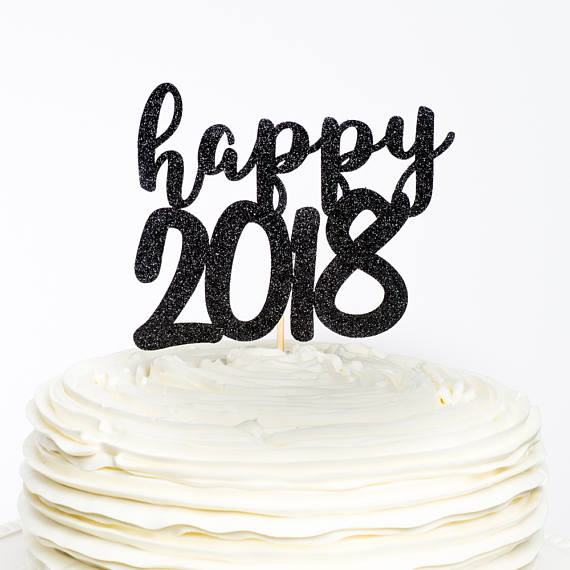 happy new year cake 2018